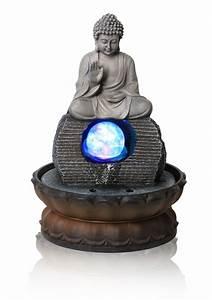 Tischbrunnen Mit Beleuchtung : tischbrunnen buddha mit drehender kugel und beleuchtung 35 99 ~ Orissabook.com Haus und Dekorationen