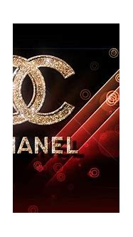 glittering chanel logo in red background hd chanel ...