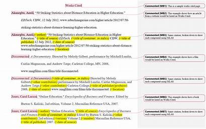 Cited Works Mla Paper Research Example Sources