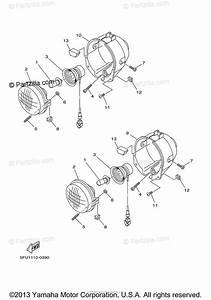 Yamaha Atv 2001 Oem Parts Diagram For Headlight