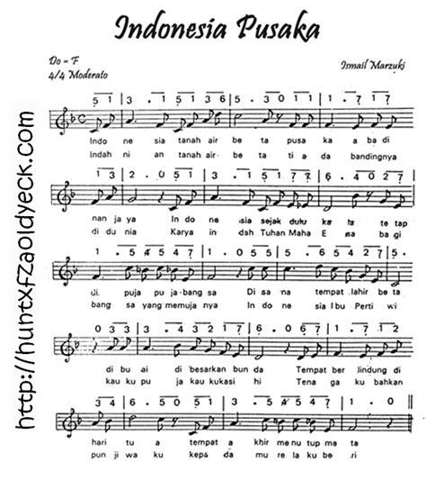 not halo halo bandung notasi lirik lagu indonesia pusaka