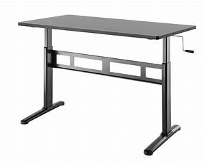 Stylish Manual Height Adjustable Sit Stand Desk Black