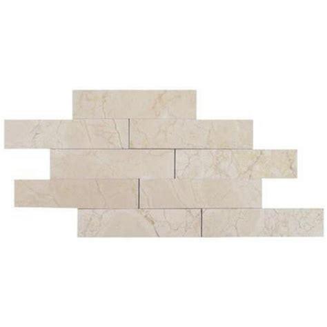 brushed marble tile splashback tile brushed crema marfil marble mosaic tile
