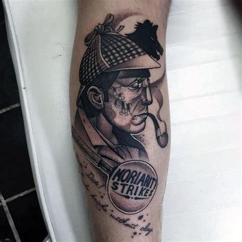 sherlock holmes tattoo designs  men detective ideas
