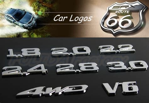 Personalized Car Plastic Badge Emblems Sticker Custom Abs