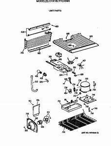 Unit Parts Diagram  U0026 Parts List For Model Ctx18lyycrwh Hotpoint