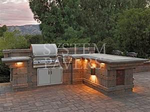 Capri bbq island with lighting outdoor kitchen