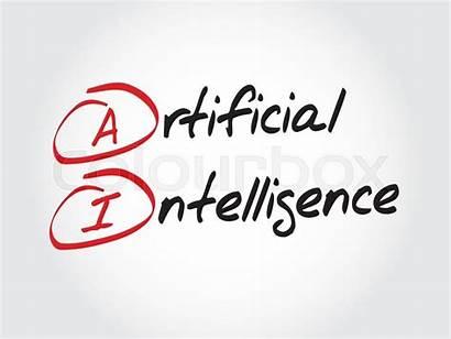 Intelligence Artificial Ai Acronym Vector Concept Illustration