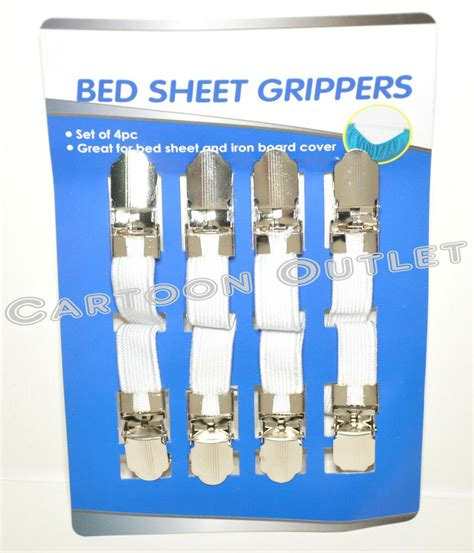 bed sheet grippers suspengers elastic fastners 4pc