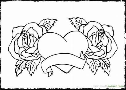 Bff Coloring Pages Printable Friends Heart Hard