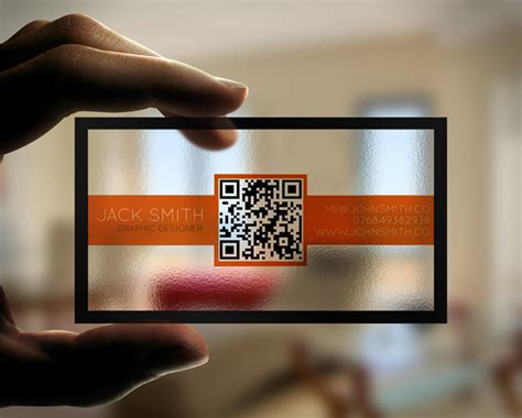 Creative Transparent Business Cards With Qr Code By Best Business Cards Online Review Recycled Paper Housekeeping Samples Small Size Print Your Good Quality Uk Wooden Vertical
