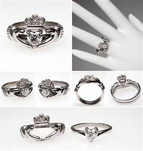 i want i want i want irish claddagh heart diamond With claddagh engagement and wedding ring sets