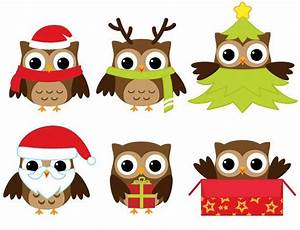 Cute Christmas Owl Clipart - ClipartXtras