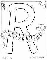 Coloring Pages Alphabet Resurrection Easter Bible Torch Jesus Children Ascension Sunday Sheets Olympic Ministry Lesson Study Letter Lessons Lazarus Disney sketch template