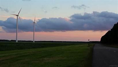 Gifer Windmills Wind Loop Perfect Farmland Animated