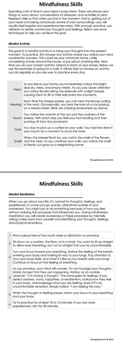 Dbt Mindfulness Skills Preview  In Session Selfknowledge Pinterest