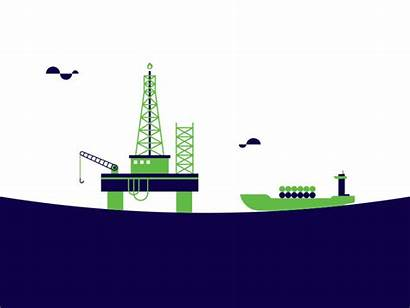 Animated Oil Rig Fuel Lombard Dribbble Microsite