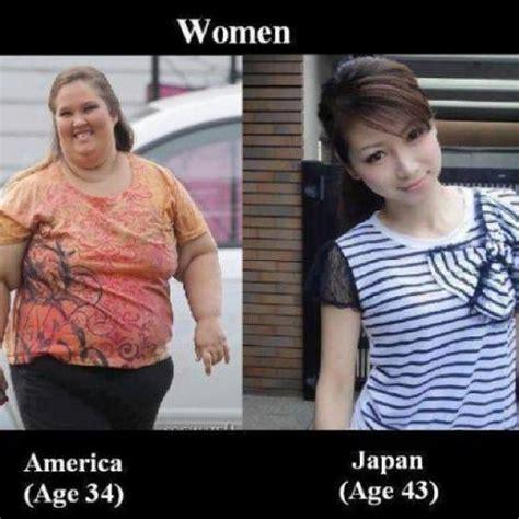 Asian Lady Aging Meme - women america age 34 japan age 43