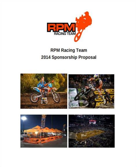 team sponsorship proposal template   word