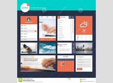 Set Of Flat Design UI And UX Elements For Web And App