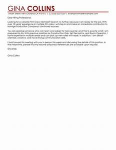 film crew cover letter examples media entertainment With cover letter film industry