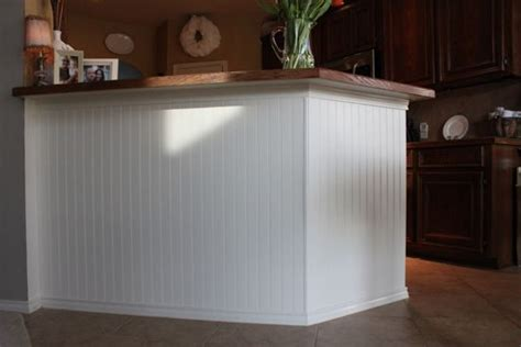wainscoting kitchen island how to add beadboard to kitchen island she did this for 3304