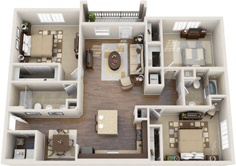 Luxury Apartment Floor Plans 3 Bedroom 3 Bedroom Apartment Floor Plans 3d