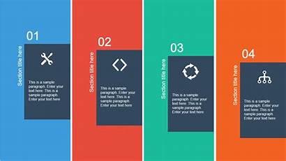 Powerpoint Template Flat Layout Slide Columns Presentation