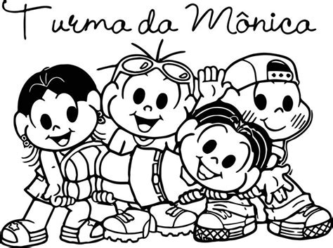 Turma Da Monica Selfie Coloring Page Also see the