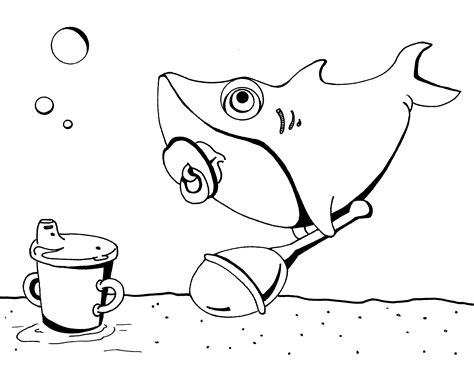 Coloring fun Páginas para colorir Bebê tubarão Colorir