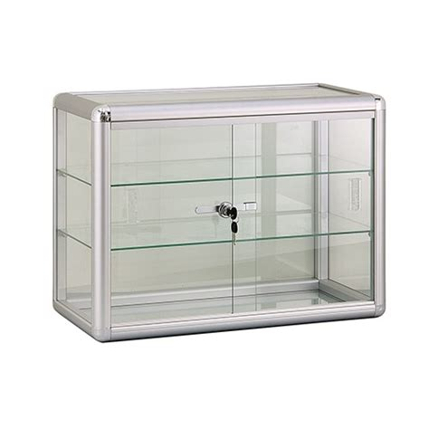 Countertop Showcases by Aluminum Countertop Showcase With Lock And Shelves Subastral