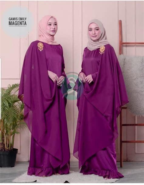 model baju gamis pesta terbaru  selendang ryn fashion