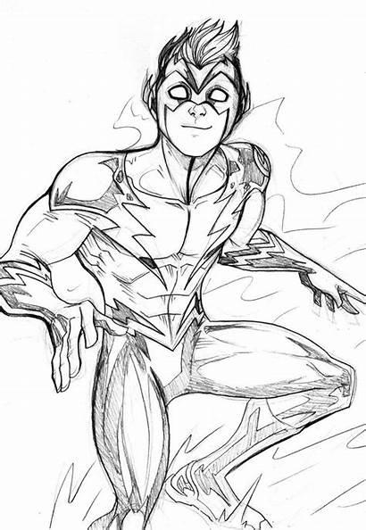 Flash Coloring Reverse Superhero Printable Kid Dc
