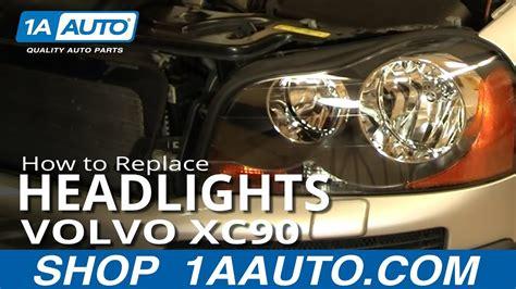install replace headlight  bulb volvo xc