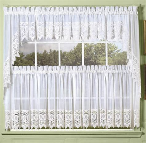 white country kitchen curtains quaker lace kitchen swag curtains curtain design
