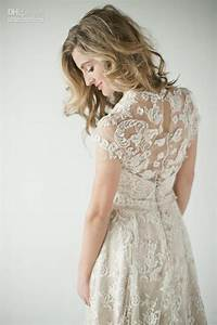 2014 lace back wedding dresses a vintage inspired lace With short vintage lace wedding dresses