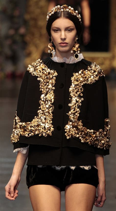 A Model Presents A Creation From The Dolce And Gabbana 2012