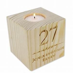 Cube En Bois Bébé : bougeoir cube en bois grav une id e de cadeau original amikado ~ Melissatoandfro.com Idées de Décoration