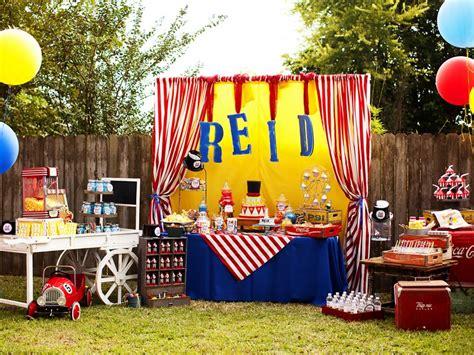 Fabulous Friday Big Top Circus 1st Birthday Party  K & K