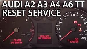 Audi Reset Service Reminder  A2  A3  A4  A6  Tt