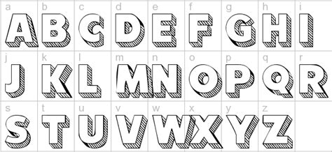 3d block letters 3d letters alphabet theveliger 20095 | 101 block letterz 3d fonts block fonts bubble letters fonts pertaining to 3d bubble letters alphabet
