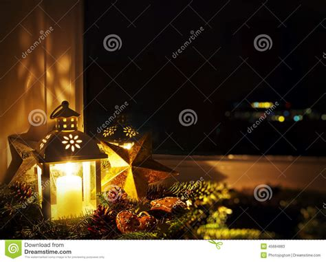 window sill christmas lights christmas decoration on a window sill stock photo image 45684883