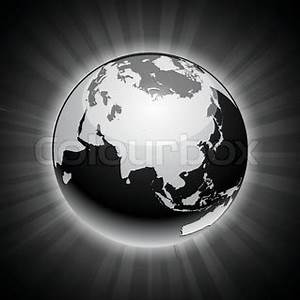 Black neon high detailed earth ball Vector