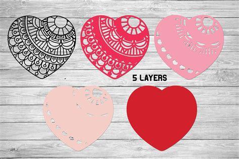 Mandala svg 3d layered mandala svg cut file 5 layers 516182. 3d Layered Heart Mandala| Multi Layer Heart SVG Cut File ...