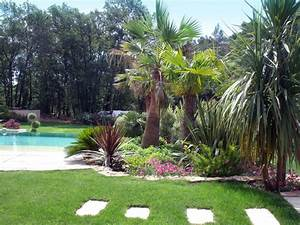 charming jardin paysager avec piscine 0 cr233ation de With jardin paysager avec piscine