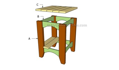 plans for wooden outdoor table woodworking projects