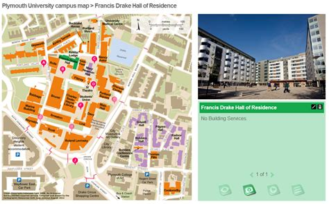 Plymouth University Campus Map