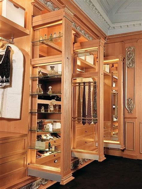 luxury walking closet custom built in cabinets home