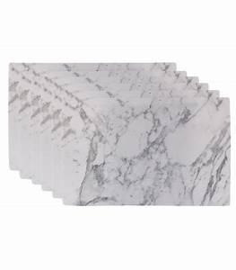 Set De Table Design : set de table design marbre en vinyle set de 6 ~ Teatrodelosmanantiales.com Idées de Décoration