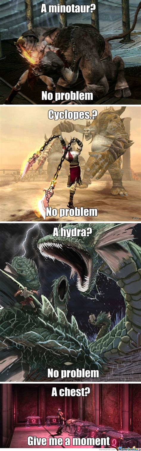 God Of War Memes - god of war logic by finger v meme center